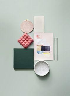 Susanna Vento + Kristiina Kurronen for Deko – Husligheter. Home Design, Web Design, Design Art, Design Ideas, Graphic Design, Interior Design, Colour Schemes, Color Patterns, Material Board