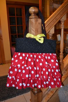 Minnie Mouse inspired Tote Bag by ACreativeMedley on Etsy, $55.00    @Jen Brown Perkins  made me think of you!!
