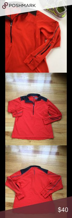 REI Running Pullover Worn a couple times, in good condition. No rips/ stains/ holes. Color is burnt orange/red color. Headphone port slit located in collar. Size is XL. ⭐Make an offer using the offer button or take advantage of my bundle discount! 🚫Trades Tops Sweatshirts & Hoodies