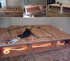 David tells us his DIY platform bed project isn't yet complete, but we think he's done such a spectacular job with his bed/storage to this point, we wanted to go ahead and share what's he's completed thus far...