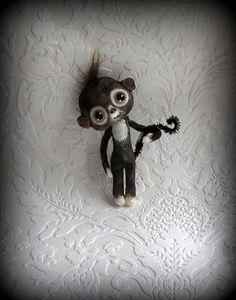 Tiny baby monkey by suziehayward on Etsy, $58