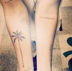 Palm tree tattoo <3