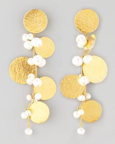 $1150 Herve Van Der Straeten Pastilles Drop Earrings - Neiman Marcus