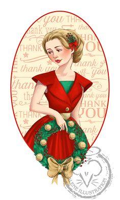 Christmas Wreath by  Alison Mutton | www.alene-art.com