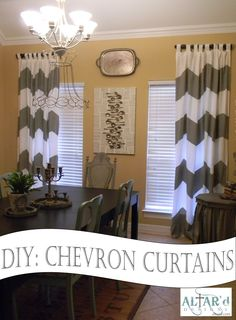 DIY Chevron Curtains- This is a no-sew variety