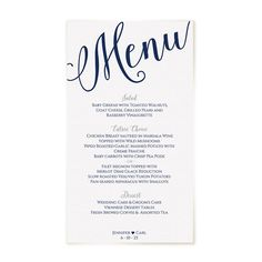 editable menu template