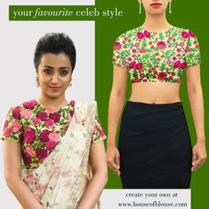 Crushing on your fav celebs style? Create an inspired version of the blouse you love with a similar style or fabric in 3 fun steps on our website! Here's one such stunning Kutch work blouse! Shop it here or customize it further here : bit.ly/1rCFkQK Shipping worldwide Whatsapp helpline: +91 81050 68601. #saree #blouse #sareeblouse #indianwear #bollywood #celebstyle #fashion #style
