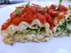 Foods For Long Life: Vegan, Gluten Free Lasagna Rollups Filled With Tofu Ricotta And Pesto