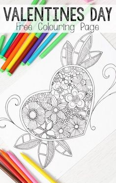 Heart Colouring Page for Grown Ups - SO MANY MORE great designs on this site and all free too. LOVE colouring pages for grown ups