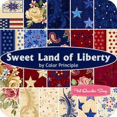 Sweet Land of Liberty Yardage Color Principle for Henry Glass Fabrics - Fat Quarter Shop
