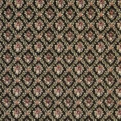 The K7027 EBONY upholstery fabric by KOVI Fabrics features Country or Lodge or Cabin, Floral, Small Scale pattern and Black, Burgundy or Red or Rust, Light Geen, Pink or Rose as its colors. It is a Tapestry type of upholstery fabric and it is made of 70% polyester, 30% cotton, material. It is rated Exceeds 50,000 Double Rubs (Heavy Duty) which makes this upholstery fabric ideal for residential, commercial and hospitality upholstery projects.For help call 800-8603105.