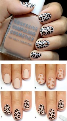 nail art designs for spring ; nail art designs for winter ; nail art designs with glitter ; nail art designs with rhinestones Leopard Nail Designs, Leopard Print Nails, Simple Nail Art Designs, Gel Nail Designs, Cute Nail Designs, Nails Design, Leopard Prints, Leopard Nail Art, Bling Nails