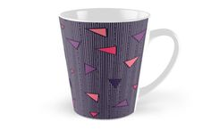 Triangles Rain #redbubble #decor #buyart by designdn Tall Mugs