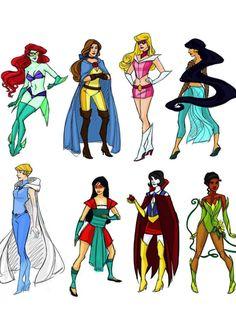 Disney Princess Superheroes!!!!!!!