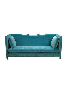 And I'll take the aqua velvet sofa, too... #furniture