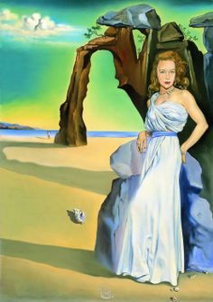 Portrait of Ann Woodward 1953 - Salvador Dali Salvador Dali Gemälde, Salvador Dali Paintings, Famous Artists, Great Artists, Figueras, Dali Quotes, Les Religions, Surrealism Painting, Spanish Artists