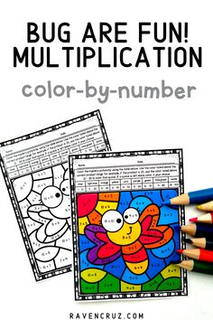 These bug-themed multiplication worksheets are a concrete way for students to practice multiplication fact fluency. Use the multiplication color by number worksheets for math centers, rotations, good behavior, etc... #mathwithraven #homeschool #3rdgrade #4thgrade Multiplication Activities, Math Activities, Common Core Math Standards, Fourth Grade Math, Number Worksheets, Homeschool Math, Elementary Math, Math Resources, Math Centers