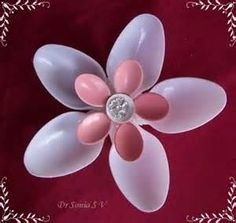 how to make a realistic plastic spoon flower