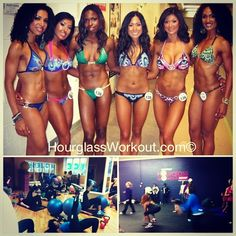 #tbt #throwbackthursday - some of my beautiful #hourglassworkout ladies showing off all their hard work!!! Love these ladies👯💋 Wanna look this good? Next hourglass workout class starts next week!! HourglassWorkout.com 💪🙌    Follow me on instagram @lyzabethlopez