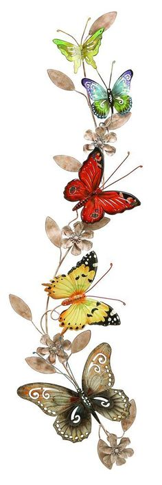 Wall Metal Butterfly Decor An Excellent Anytime Wall Decor - DIY Home Project Metal Butterfly Wall Art, Butterfly Wall Decor, Butterfly Decorations, Butterfly Art, Wall Decorations, Metal Wall Art Decor, Metal Tree Wall Art, Art Papillon, Decoupage