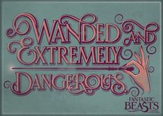 Fantastic-Beasts-Movie-Wanded-and-Dangerous-Refrigerator-Magnet-Harry-Potter-NEW