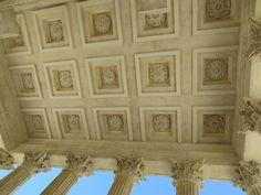 Ceiling of Exterior of Maison Carrée. Nîmes