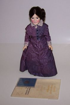 "Vintage Effanbee 1980 Susan B Anthony 15"" Doll COA & Coin & Box Unused #Effanbee"