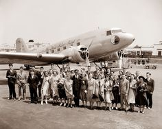 Passengers at the airport in Washington DC, 1938