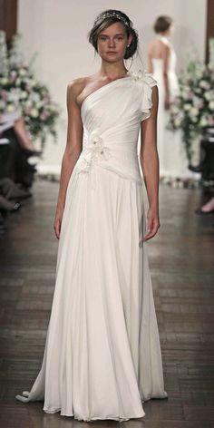 One Shoulder #JennyPackam #Wedding Dress
