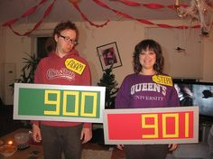 Awesome Price is Right costumes - Click image to find more Humor Pinterest pins Costume Halloween, Theme Halloween, Couple Halloween, Holidays Halloween, Cool Costumes, Halloween Crafts, Halloween Decorations, Costume Ideas, Group Halloween