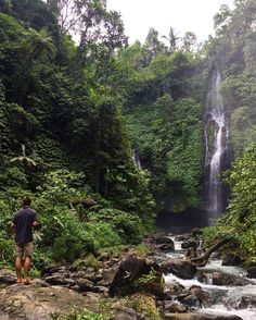 Bali sure is beautiful! We've already been here for 5 weeks and we only have 3 more left. It's the longest we've spent in one place while traveling yet the time is still flying by.  #travel #Bali #waterfalls #digitalnomadlife #explorebali #indonesia #travelasia #traveltheworld #nature
