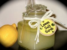 Scrubs - lemon salt scrub - If you are particularly sensitive with your skin, stick to the sugar scrubs. Salts are a bit harsher.