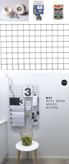 I've always fancied one of these wire mesh memo boards. NowI've got two.  I thought you might like to know how we did it with some mini mesh panelling I found at the hardware sto…