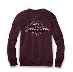 Good Vibes Only - Unisex Crew Neck Sweater