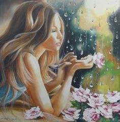 A fun image sharing community. Explore amazing art and photography and share your own visual inspiration! Art And Illustration, Romantic Series, Watercolor Portraits, Woman Painting, My Flower, Flowers, Female Art, Amazing Art, Art Nouveau