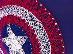 Captain America Shield String Art by Kristiestringart on Etsy. You could totally DIY this...