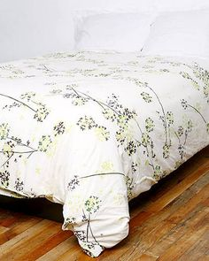 Heavenly Hydrangeas: This 100 percent cotton duvet cover is fresh without being overly flowery.