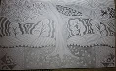 Zentangle Tree by: Tina Lonabarger