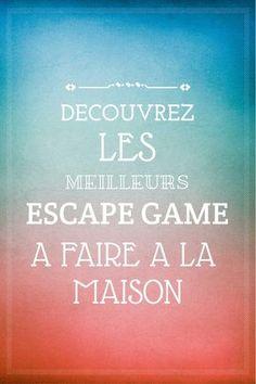 Les meilleurs jeux en famille, escape game pour vos enfants, DIY, Escape KIT, Escape Game maison