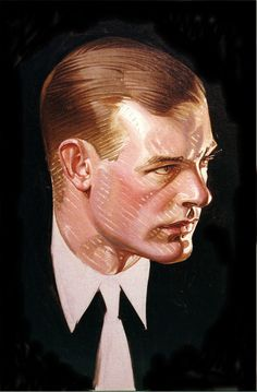 J.C. Leyendecker, original oil painting, illustration art for Arrow Collar ad.