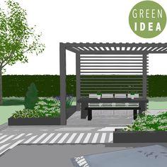 Pihasuunnittelu, pihasuunnitelma, GREEN IDEA Helsinki, Garden Planning, Garden Design, Pergola, Backyard, Outdoor Structures, Outdoor Decor, Green, Projects