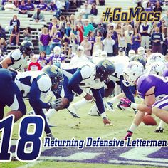 8/11/13 - 18 days until kickoff with the Mocs returning 18 defensive lettermen. #GoMocs