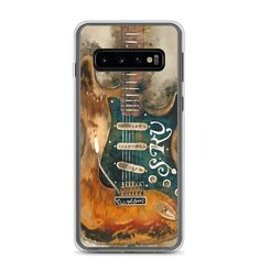 This sleek Samsung case protects your phone from scratches, dust, oil, and dirt. Guitar Painting, Guitar Art, Stevie Ray Vaughan Guitar, S7 Case, Mobile Phone Cases, Galaxy S8, Samsung Cases, Man Cave, Guitars
