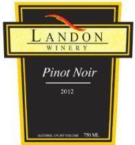 2012 Landon Winery Pinot Noir, Texas 750 mL #wine #winelabels #redwine #whitewine