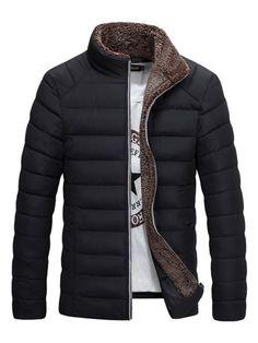 die 7 besten bilder von fashion clothing, cool suits und jackets  herren stehkragen einfarbig gesteppt gef�tterter baumwolle winterjacke einfarbig, baumwolle, anzug herren, stehkragen,