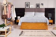 Mantenha em mente que o conforto e o aconchego são os pontos principais para a decoração de um quarto, escolha móveis que ajudem na organização e tragam praticidade para o dia a dia.