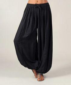 Love this Black Harem Pants on #zulily! #zulilyfinds