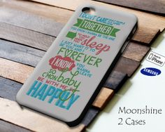1D One Direction Happily Lyric Case for iPhone 4/4S iPhone 5/5S/5C and Samsung Galaxy S3 S4 on Etsy, $13.99