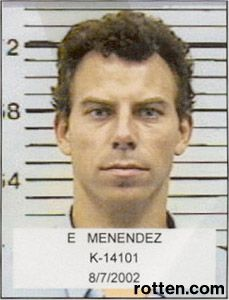 """Murderer, Erik Menendez  given """"Life"""" in prison for killing his mother and father with help from his brother Kyle."""