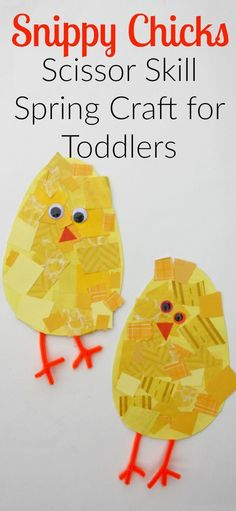 Snippy Chicks: Scissor Skill Spring Craft for Toddlers - I Can Teach My Child! Snippy Chicks: Scissor Skill Spring Craft for Toddlers! A cute and easy spring activity! Easter Activities, Spring Activities, Preschool Crafts, Toddler Activities, Time Activities, Easter Crafts For Preschoolers, Science Crafts, Kid Crafts, Spring Toddler Crafts